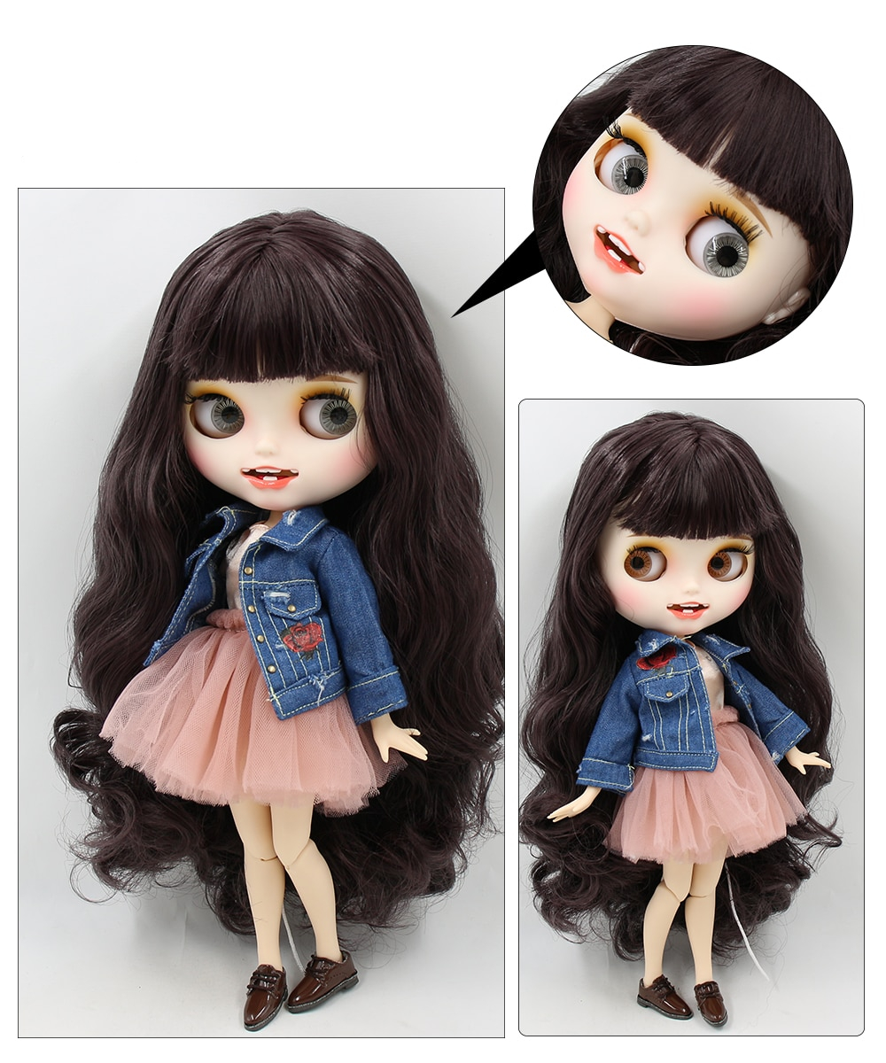 Premium Custom Blythe Dolls with Teeth 27 New Jointed Body Options Matte Face 5