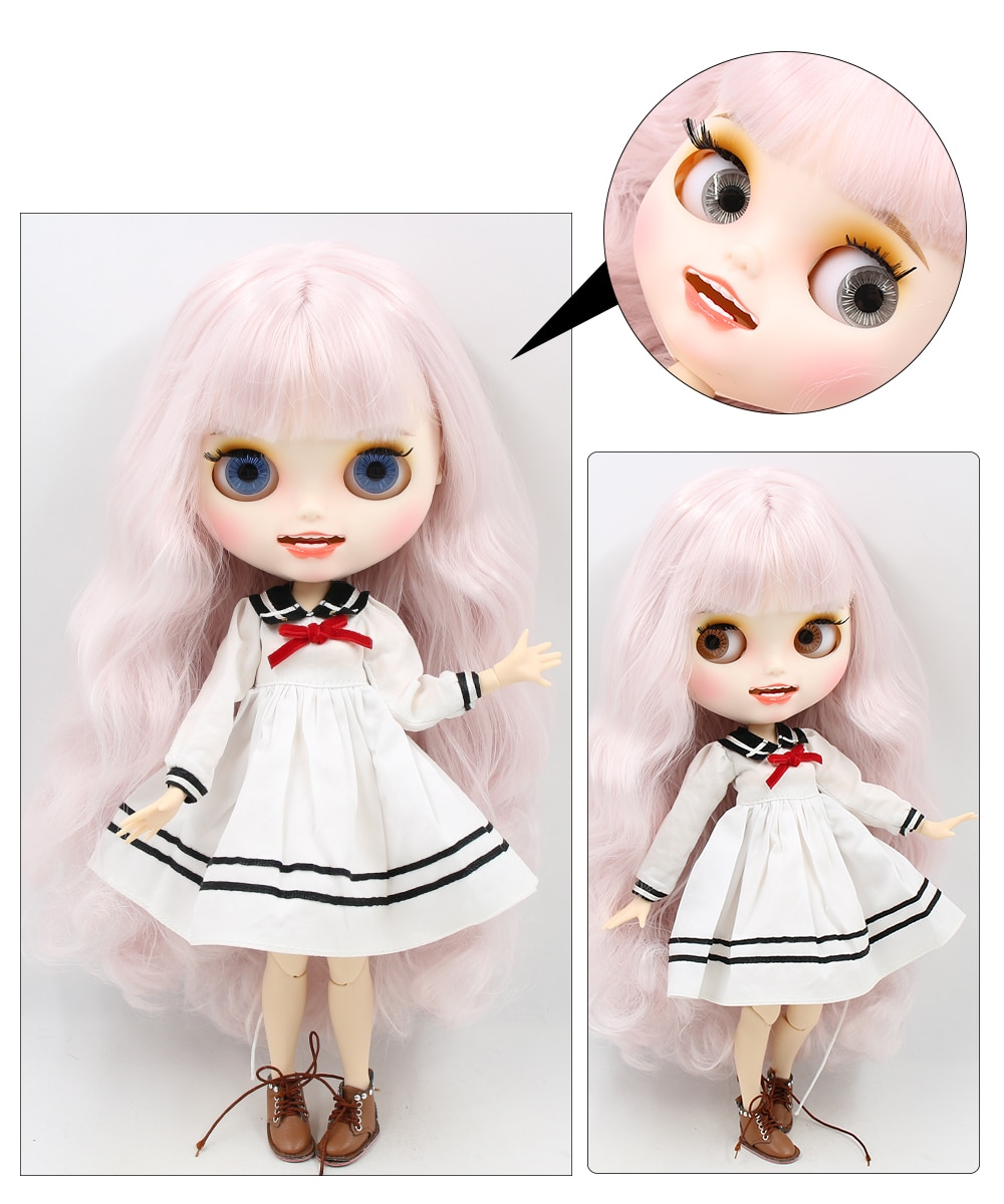 Premium Custom Blythe Dolls with Teeth 27 New Jointed Body Options Matte Face 9
