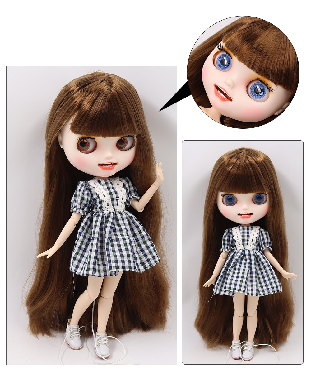 Premium Custom Blythe Dolls with Teeth 27 New Jointed Body Options Matte Face 22