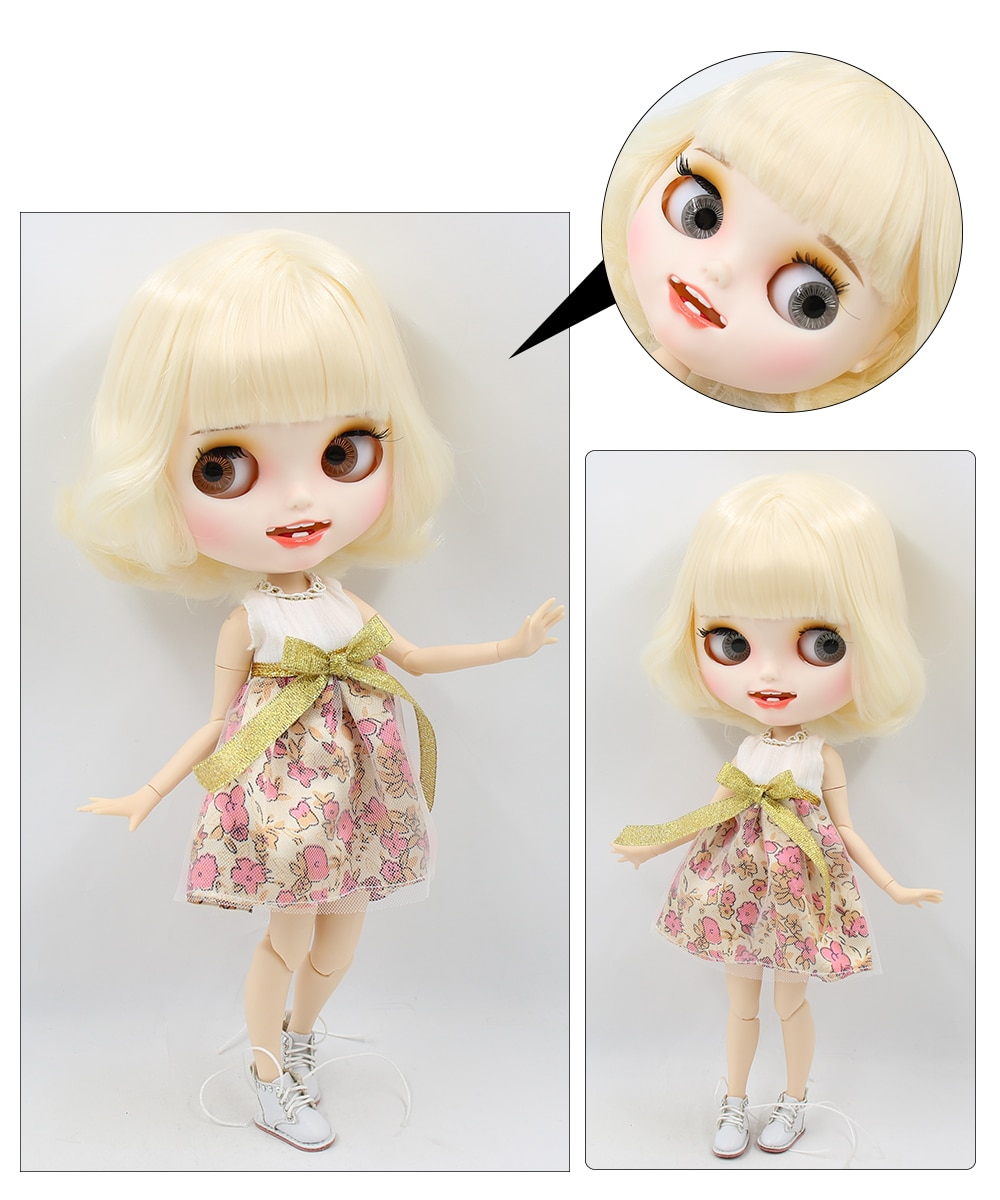 Premium Custom Blythe Dolls with Teeth 27 New Jointed Body Options Matte Face 4