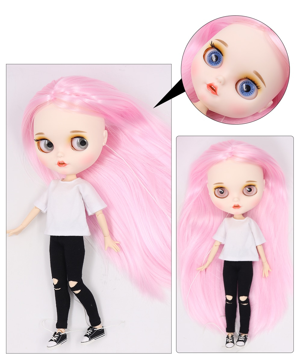 Premium Custom Blythe Dolls with Teeth 27 New Jointed Body Options Matte Face 24