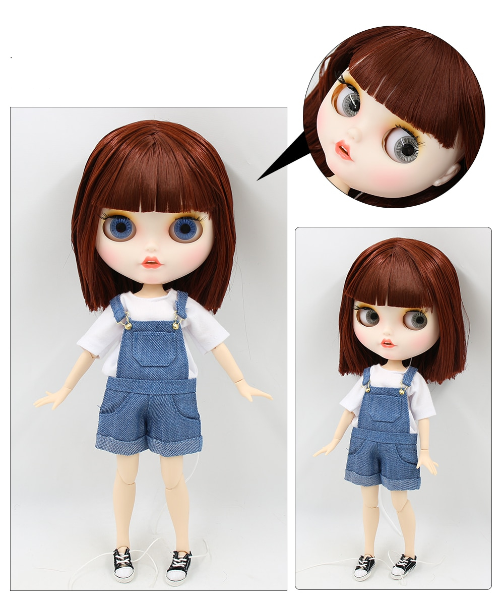 Ember – Premium Custom Blythe Doll with Clothes Smiling Face 1