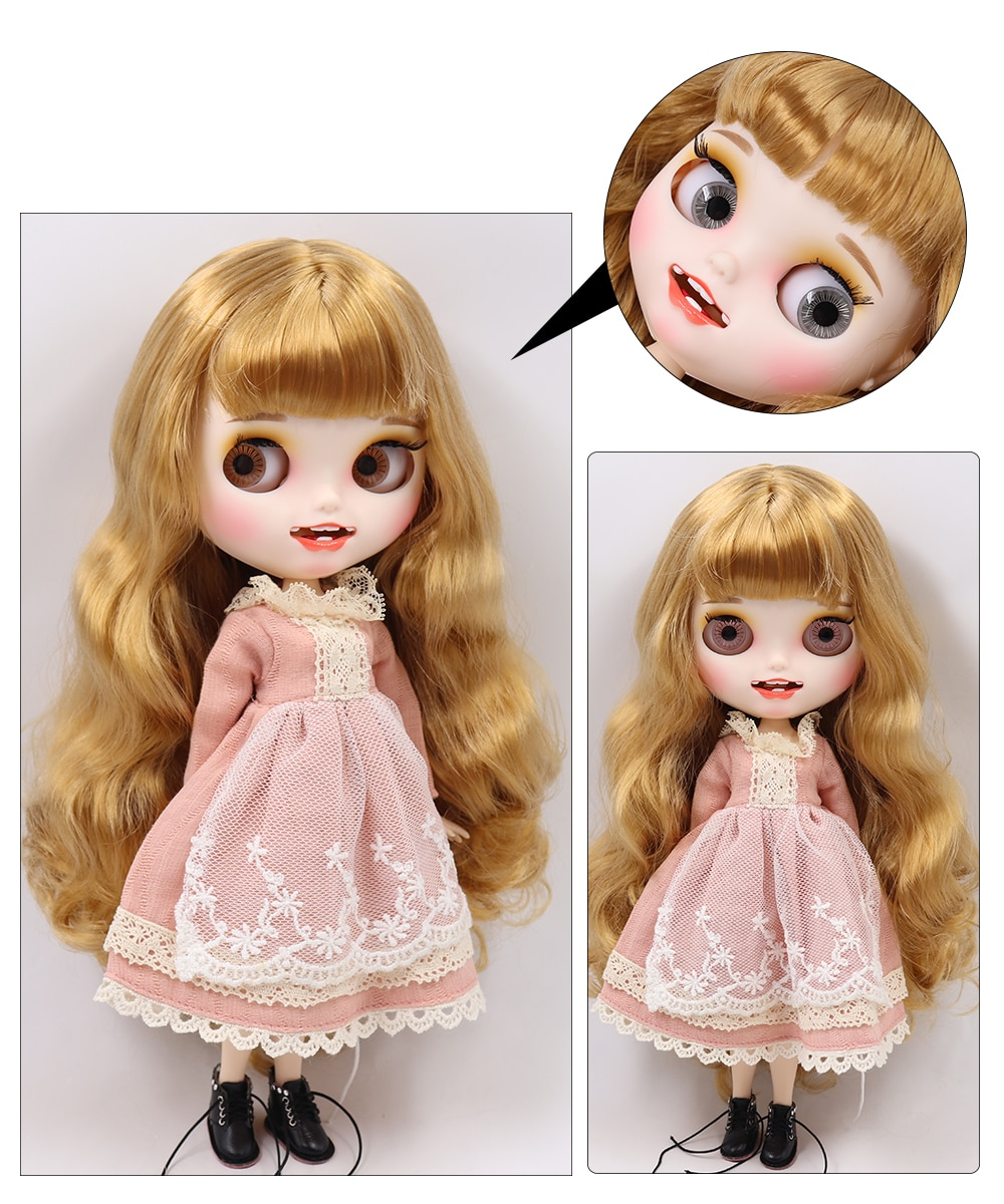 Brynlee – Premium Custom Blythe Doll with Smiling Face 1