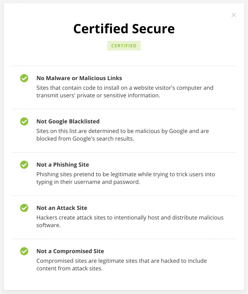 Website Security and Safety Results 1