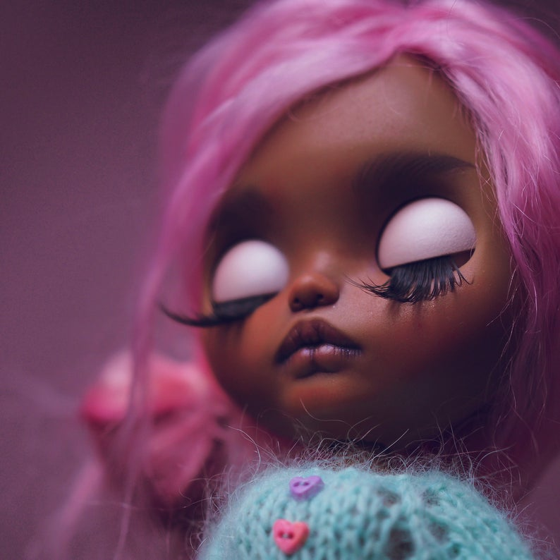 Sia – Custom Blythe Doll One-Of-A-Kind OOAK Sold-out Custom Blythes