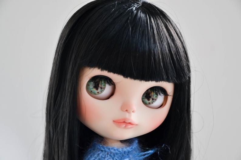 Emilia - Custom Blythe Doll One-Of-A-Kind OOAK Custom Blythe Doll (OOAK)
