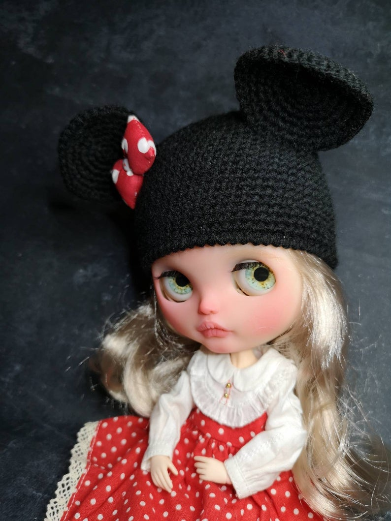 Mini Mouse - Custom Blythe Doll One-Of-A-Kind OOAK Custom Blythe Doll (OOAK)