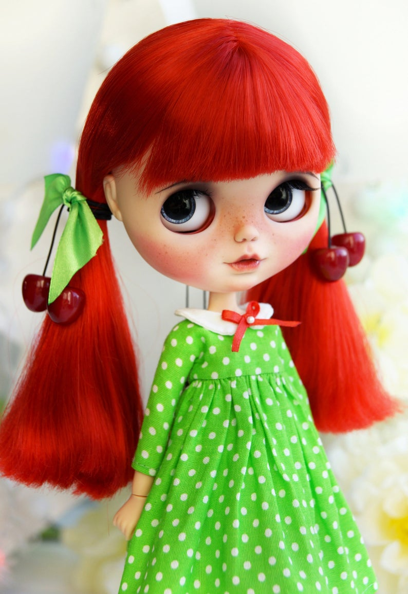 Little Cherry – Custom Blythe Doll One-Of-A-Kind OOAK Sold-out Custom Blythes