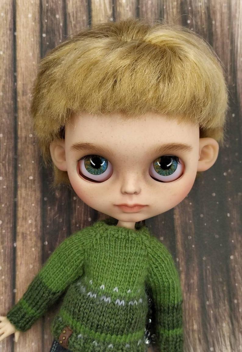 Alex – Custom Blythe Doll One-Of-A-Kind OOAK Custom Blythe Doll (OOAK)