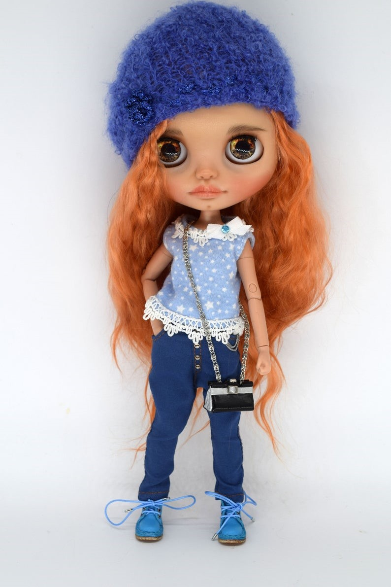 Crystal – Custom Blythe Doll One-Of-A-Kind OOAK Custom Blythe Doll (OOAK)