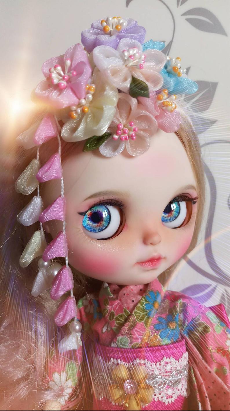 Davina – Custom Blythe Doll One-Of-A-Kind OOAK Custom Blythe Doll (OOAK)