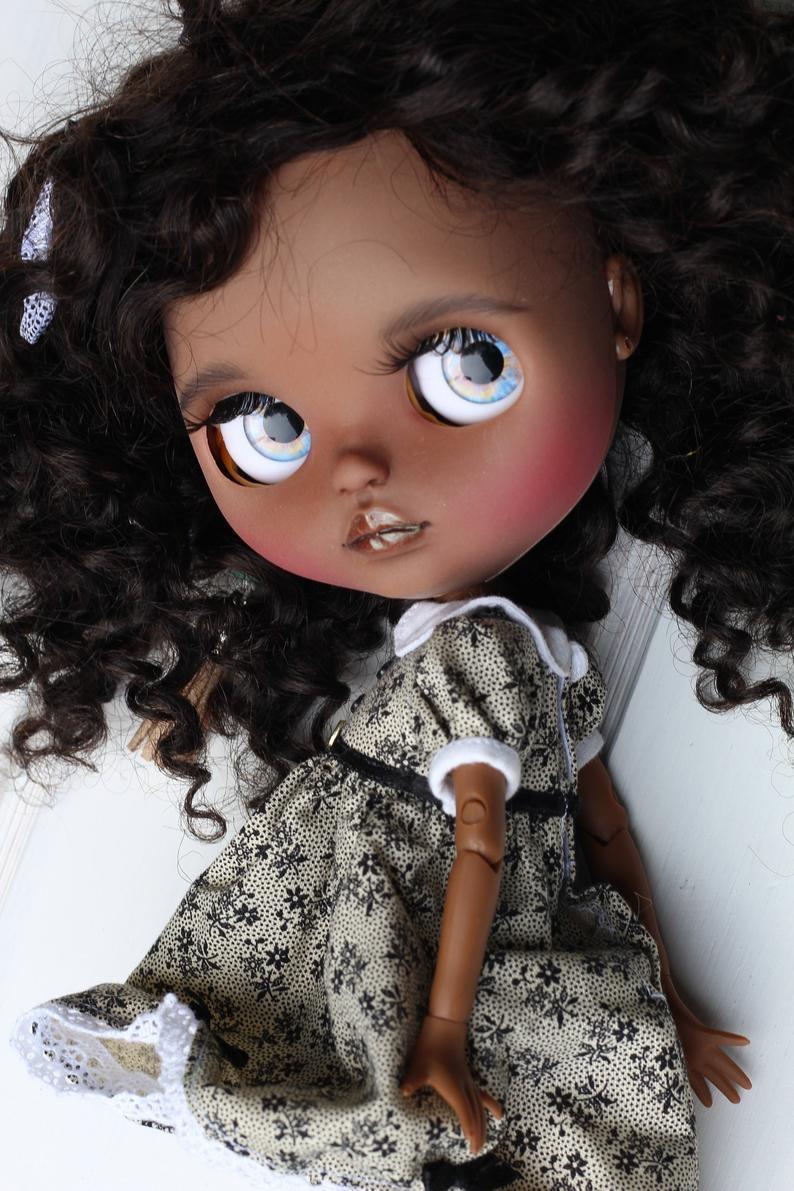Delphine – Custom Blythe Doll One-Of-A-Kind OOAK Custom Blythe Doll (OOAK)