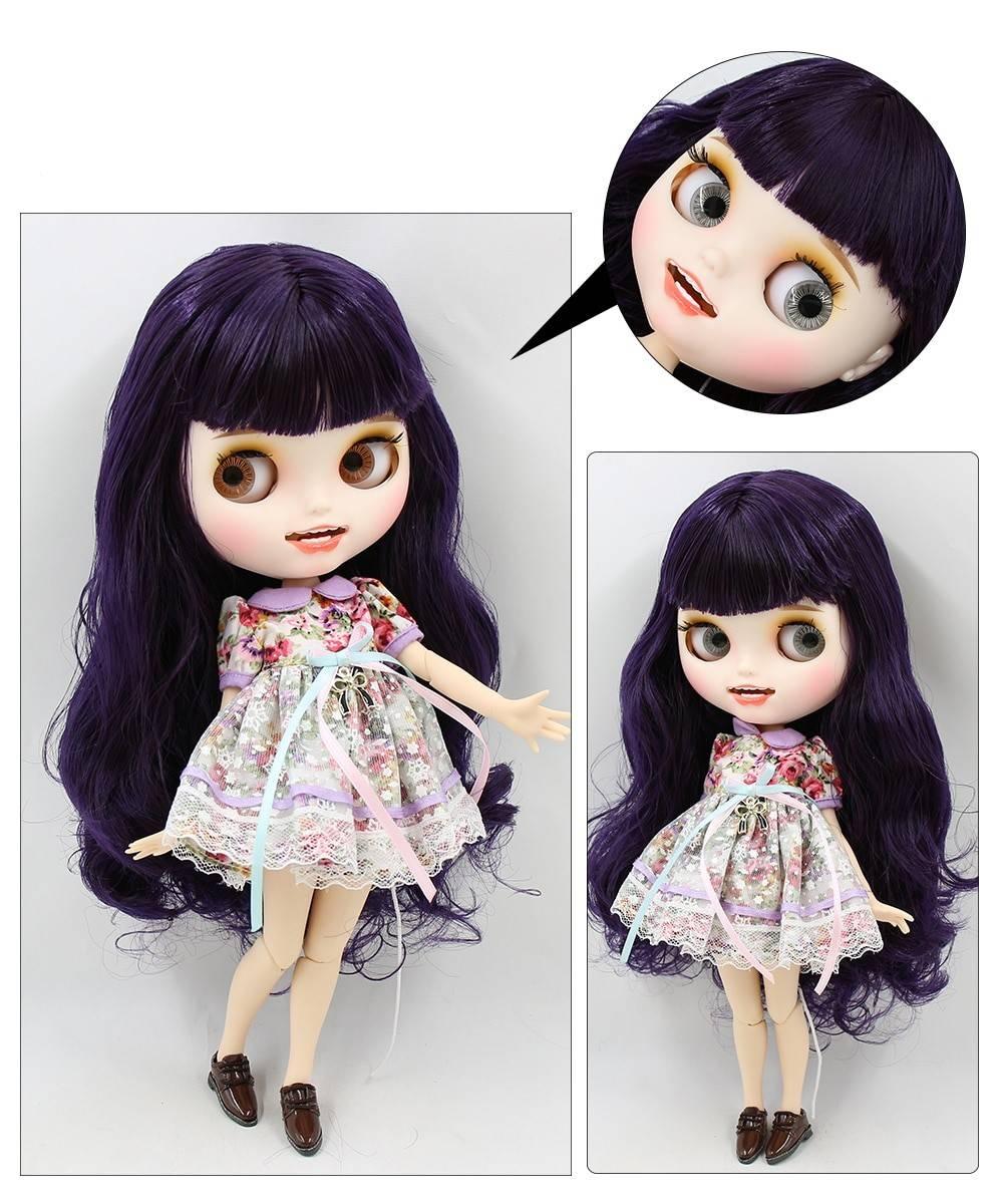 TBL Neo Blythe Doll Blue Hair Jointed Body Blue Hair Blythe