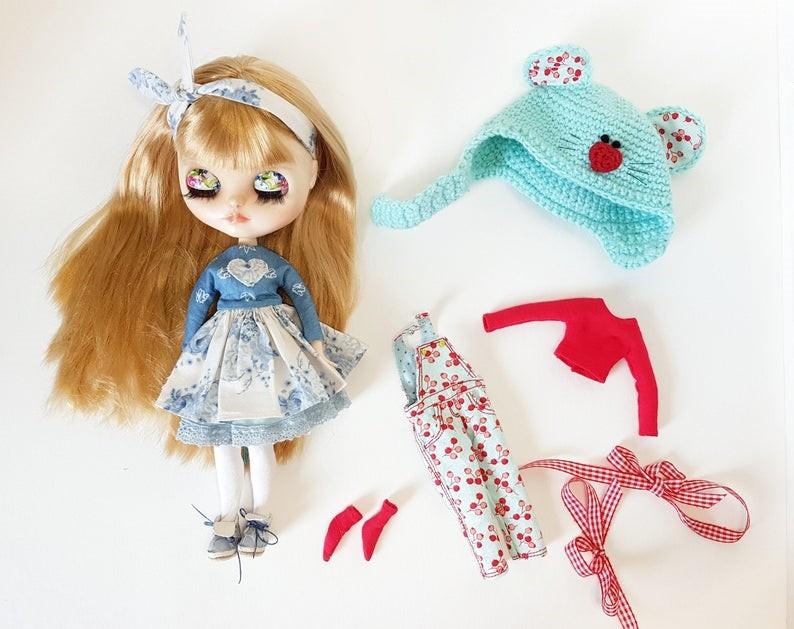 Aleksa – Custom Blythe Doll One-Of-A-Kind OOAK Custom Blythe Doll (OOAK)