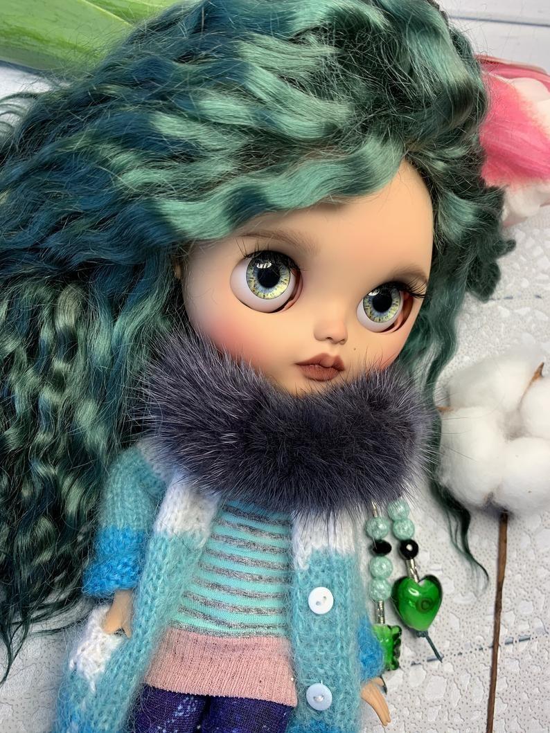 Angelina – Custom Blythe Doll One-Of-A-Kind OOAK Custom Blythe Doll (OOAK)