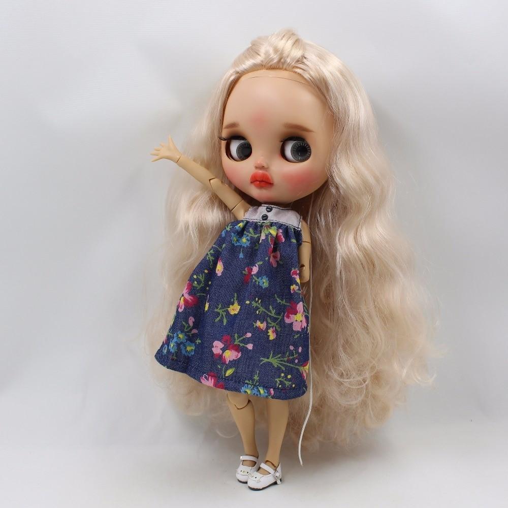 Neo Blythe Doll Blue Flower Frock Neo Blythe Doll Clothes