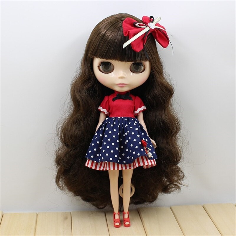 Neo Blythe Doll Blue Red Frock Neo Blythe Doll Clothes