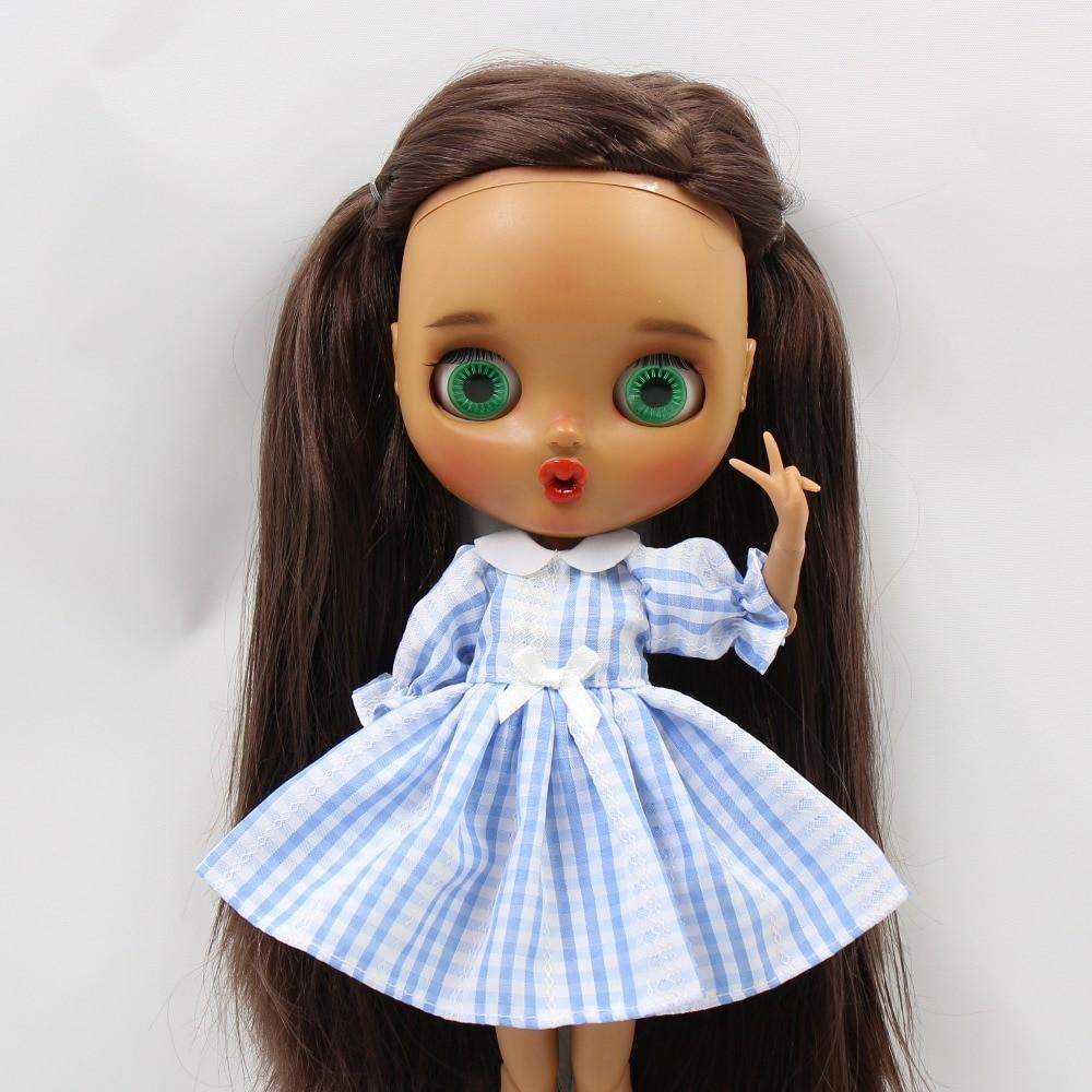 Neo Blythe Doll Blue White Check Dress Neo Blythe Doll Clothes