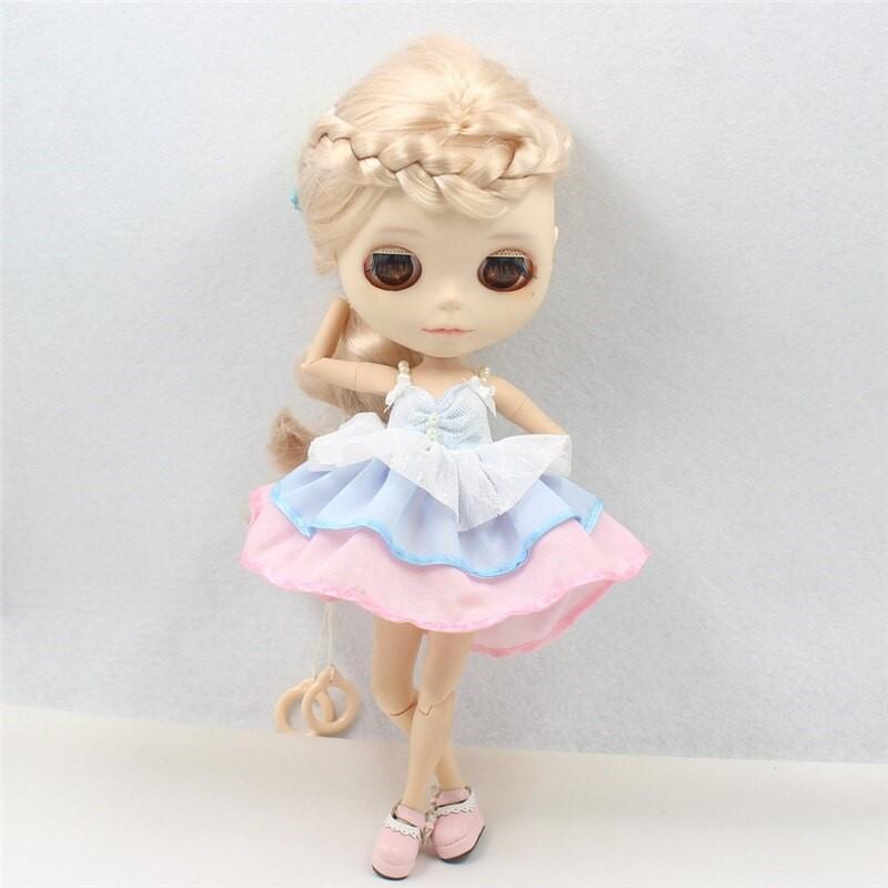 Neo Blythe Doll Pink Blue Frock Neo Blythe Doll Clothes
