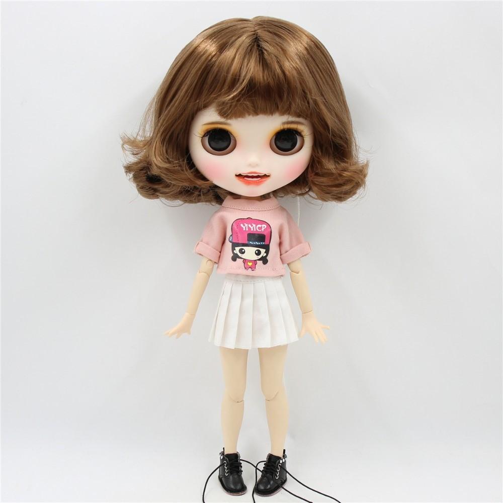 Neo Blythe Doll Pink White Dress Neo Blythe Doll Clothes