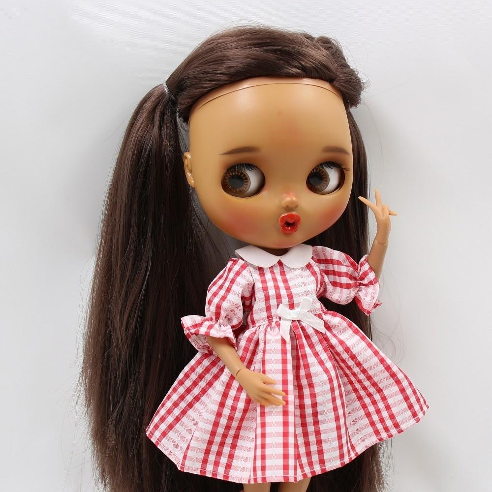 Neo Blythe Doll Red White Check Dress Neo Blythe Doll Clothes