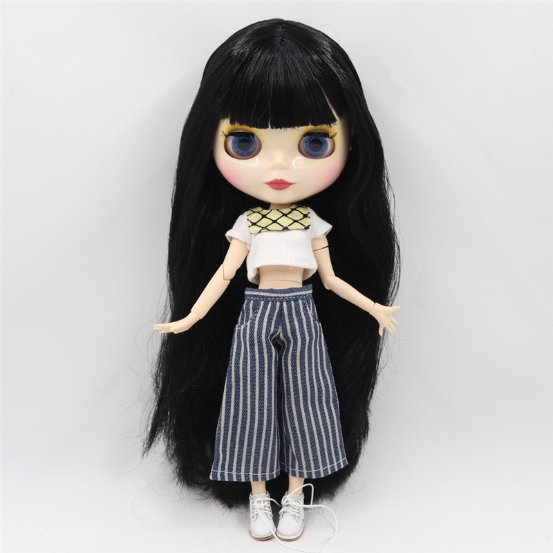 Neo Blythe Doll White Shirt And Blue Pents Neo Blythe Doll Clothes