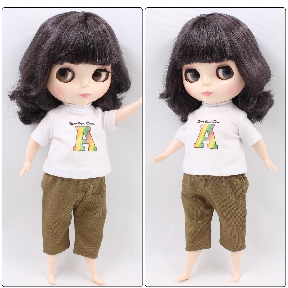 Plump Neo Blythe Doll Colorful Hair Fat Body - B Colorful Hair Blythe