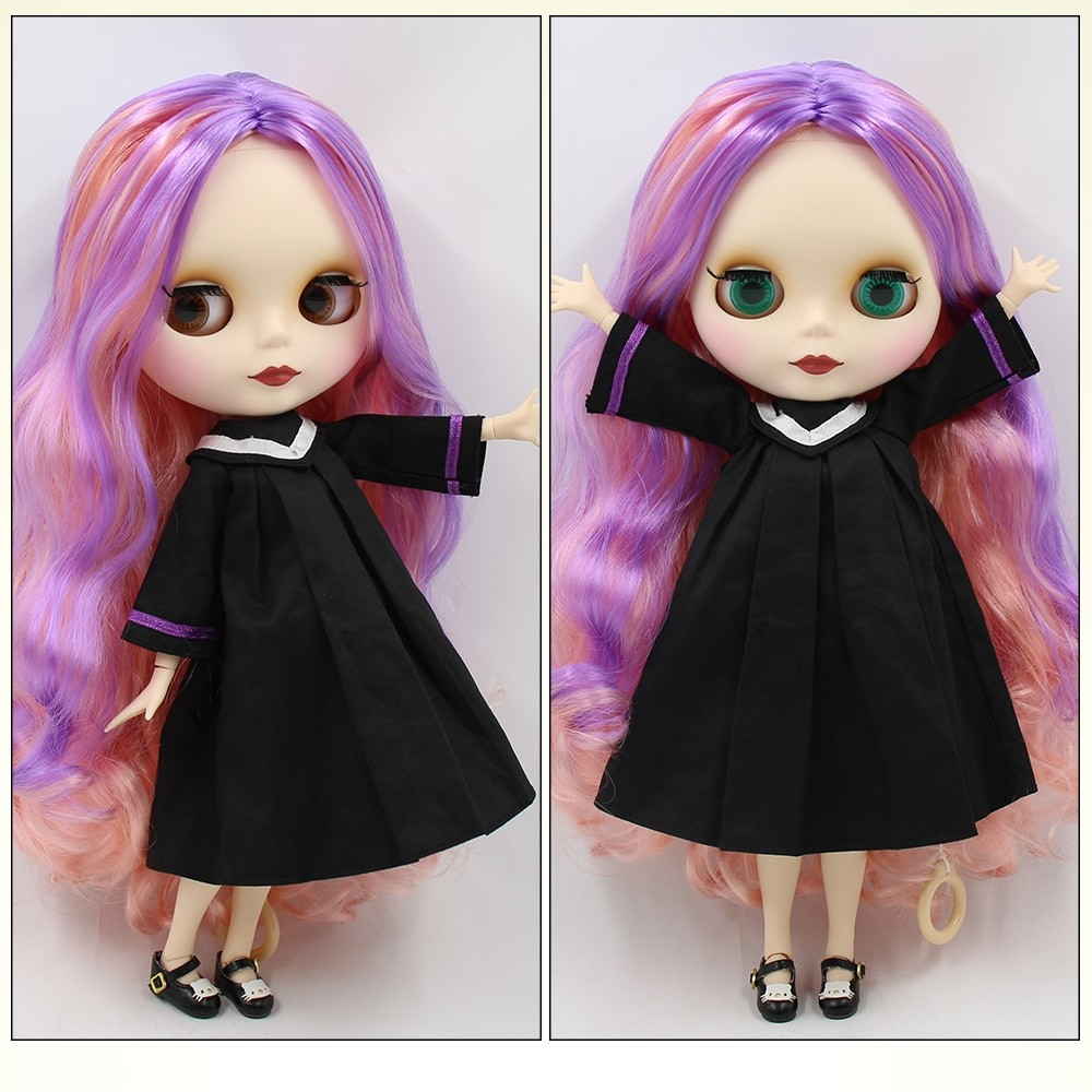 TBL Neo Blythe Doll Colourful Hair Jointed Body Matte Face White Skin Colorful Hair Blythe