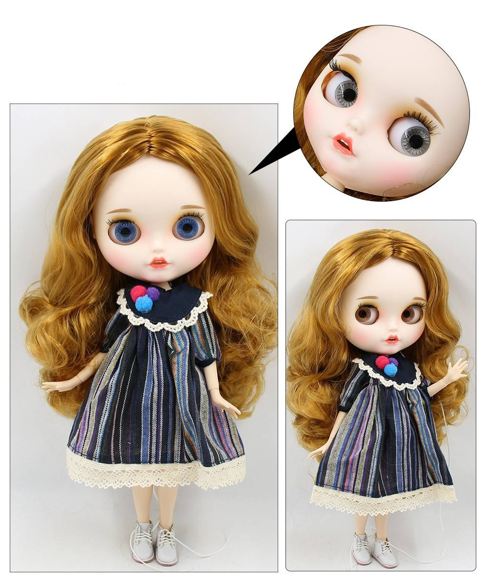 TBL Neo Blythe Doll Dirty Blonde Hair Jointed Body Blonde Hair Blythe