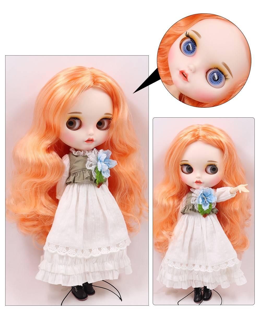 TBL Neo Blythe Doll Orange Hair Jointed Body Orange Hair Blythe