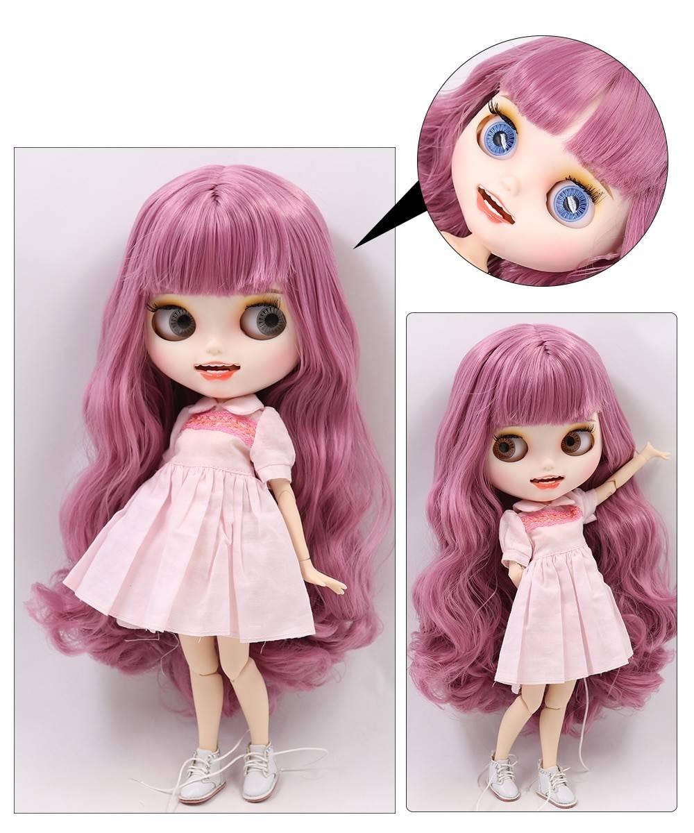 TBL Neo Blythe Doll Purple Hair Jointed Body Purple Hair Blythe