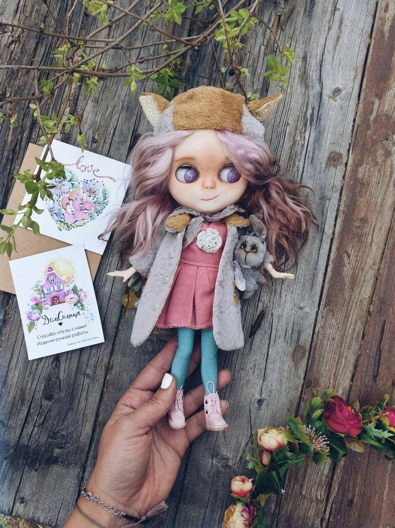 Aurora - Custom Blythe Doll One-Of-A-Kind OOAK Custom Blythe Doll (OOAK)