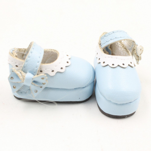 Neo Blythe Doll Leather Blue Shoes 1