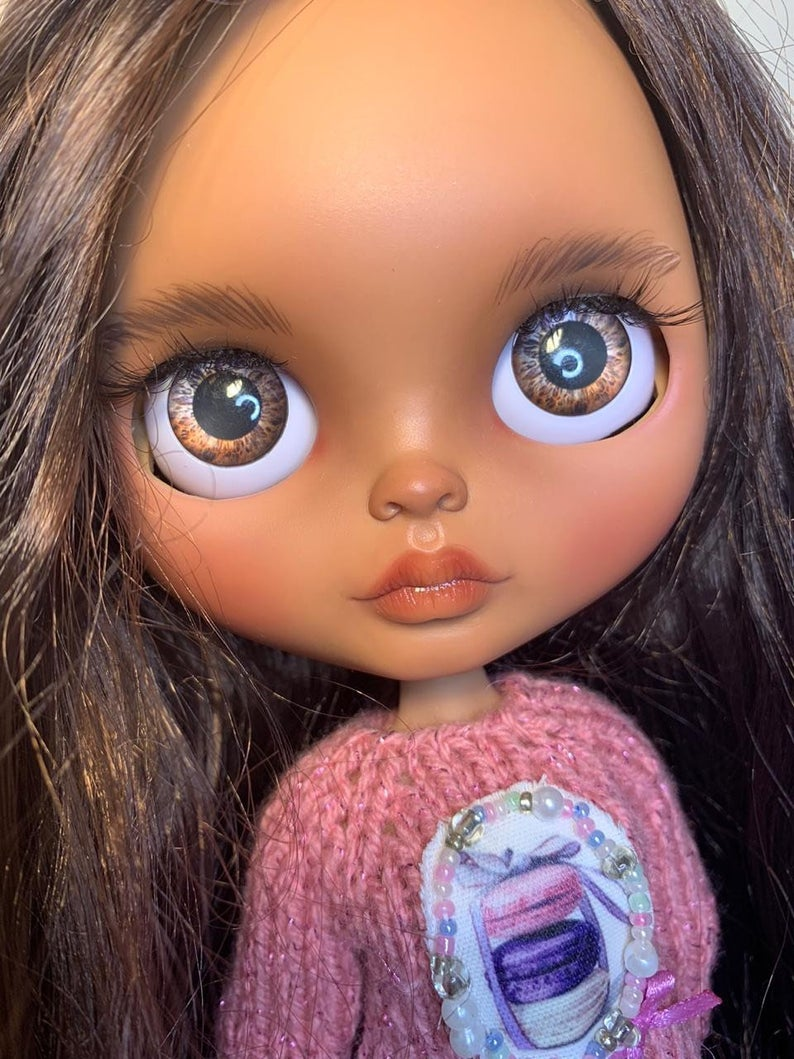 Edith - Custom Blythe Doll One-Of-A-Kind OOAK Custom Blythe Doll (OOAK)