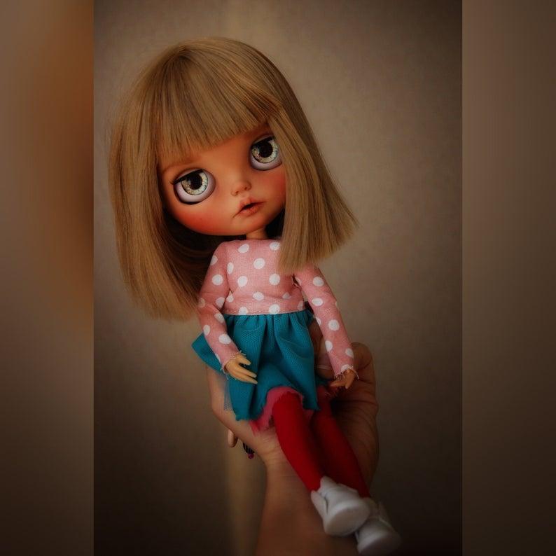 Fiona – Custom Blythe Doll One-Of-A-Kind OOAK Custom Blythe Doll (OOAK)