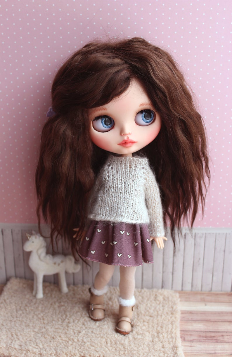 Genevieve – Custom Blythe Doll One-Of-A-Kind OOAK