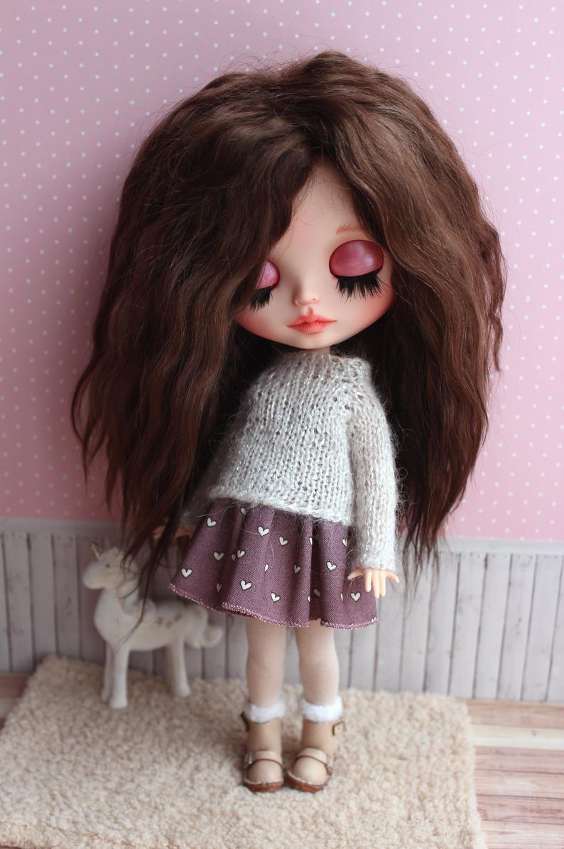 Genevieve – Custom Blythe Doll One-Of-A-Kind OOAK Custom Blythe Doll (OOAK)