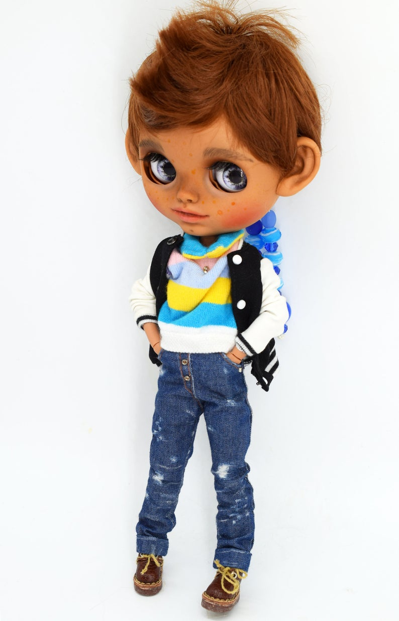Leah - Custom Blythe Doll One-Of-A-Kind OOAK Custom Blythe Doll (OOAK)