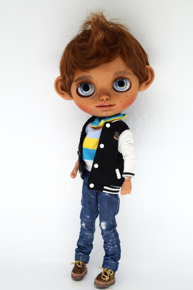 Antonio - Custom Blythe Doll One-Of-A-Kind OOAK Custom Blythe Doll (OOAK)