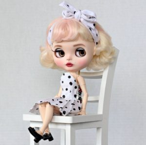 Marilyn Monroe - vlastní Blythe Doll One-Of-A-Kind OOAK