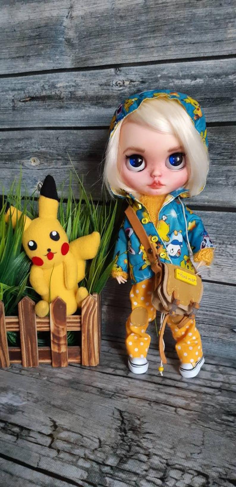 Pikachu - Custom Blythe Doll One-Of-A-Kind OOAK Custom Blythe Doll (OOAK)