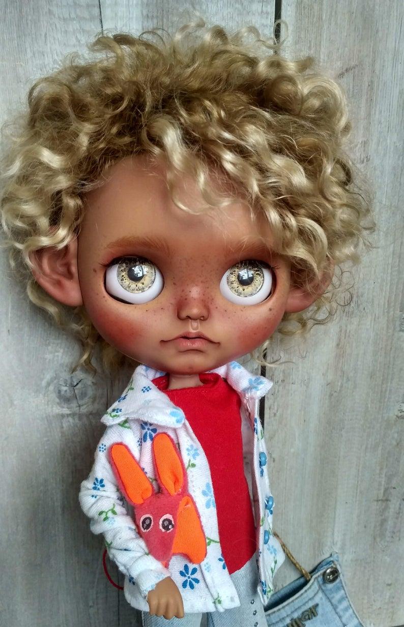 Sergio - Custom Blythe Doll One-Of-A-Kind OOAK Custom Blythe Doll (OOAK)