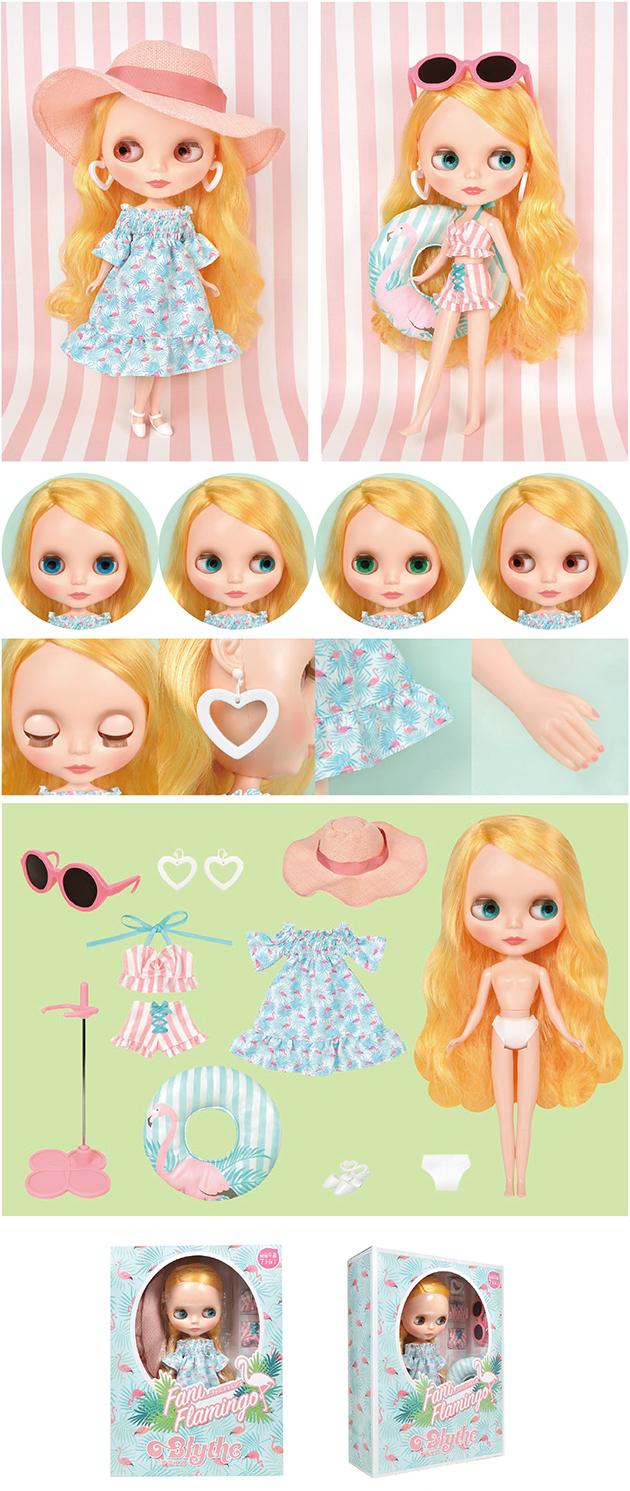Verona - Flamingo Neo Blythe Doll Original in Box Neo Blythe Doll Original Box