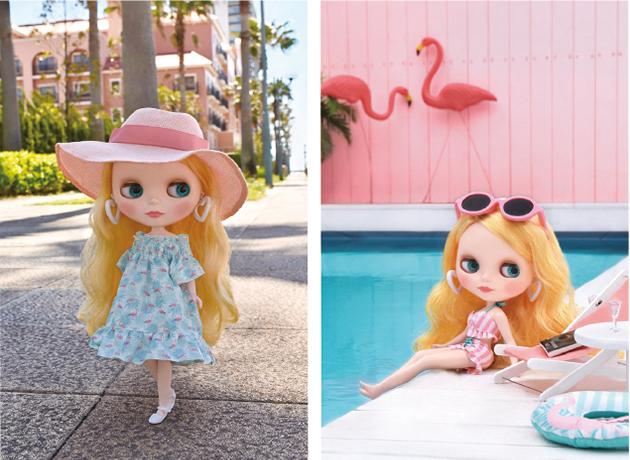Veronica Flamingo Original Blythe Doll Photo Collage