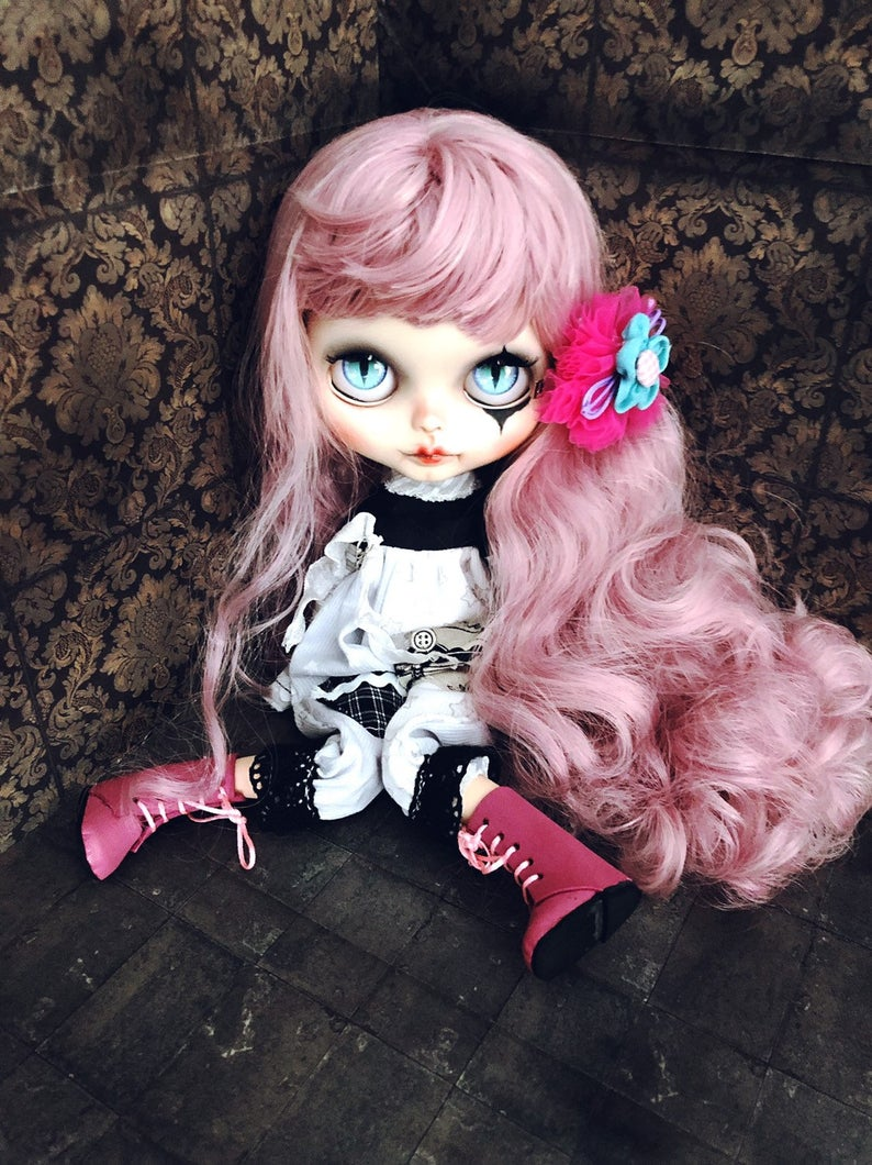 Clown - Custom Blythe Doll One-Of-A-Kind OOAK Custom Blythe Doll (OOAK)