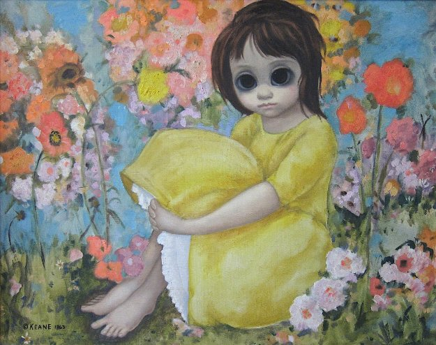 In The Garden - Margaret Keane - 1963. Blythe Eye Inspiration