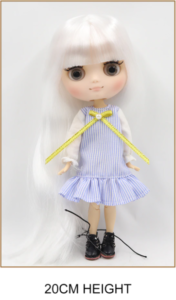 Middie Blythe Doll White Hair Jointed Body 1