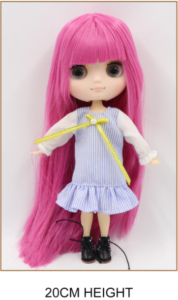 Middie Blythe Doll Pink Hair Jointed Body 1