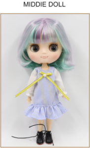 Middie Blythe Doll Multi-Color Hair Jointed Body 1
