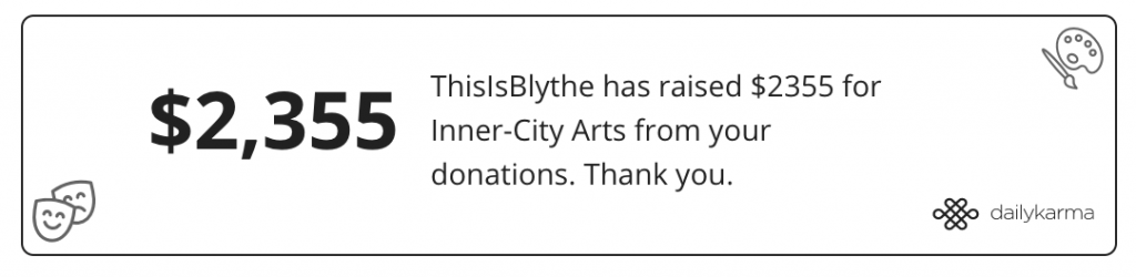 This Is Blythe Charity Impact Tracker 2